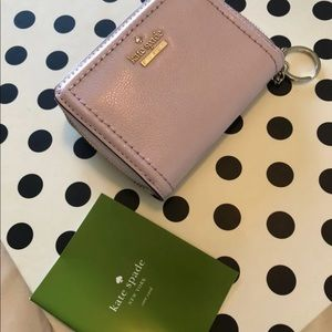 NWT kate spade periwinkle keychain wallet//